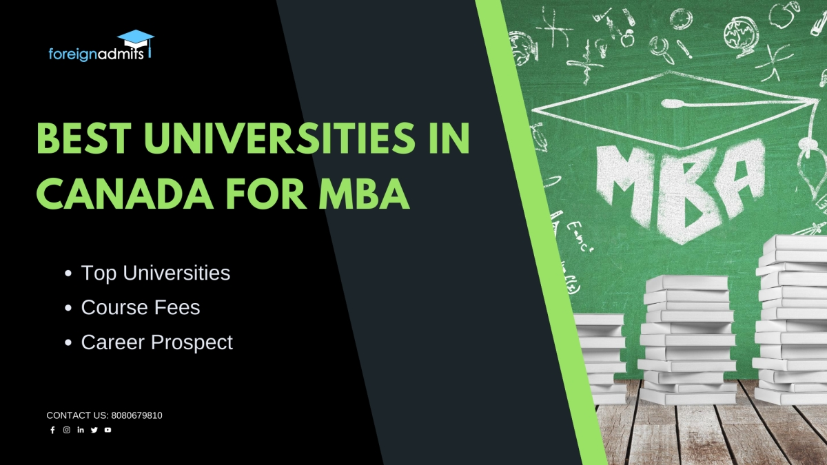 best universities in Canada for MBA