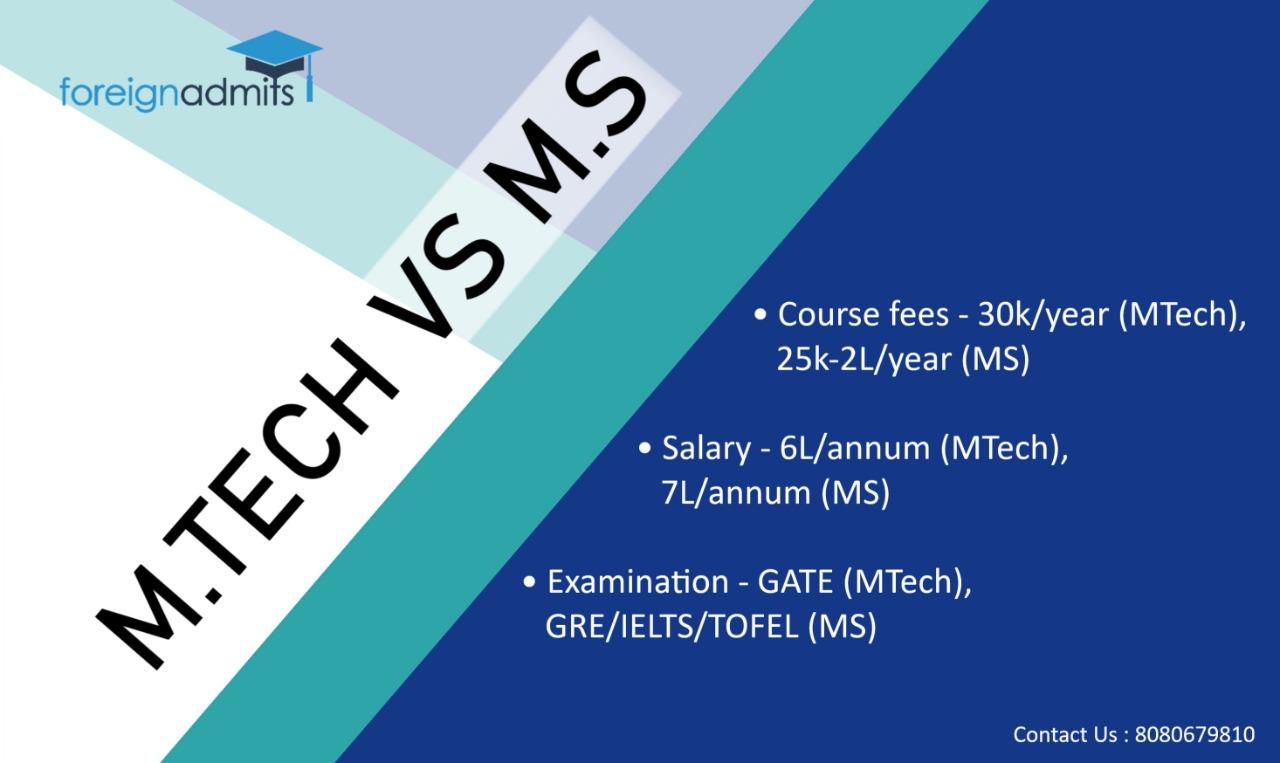 Mtech vs MS