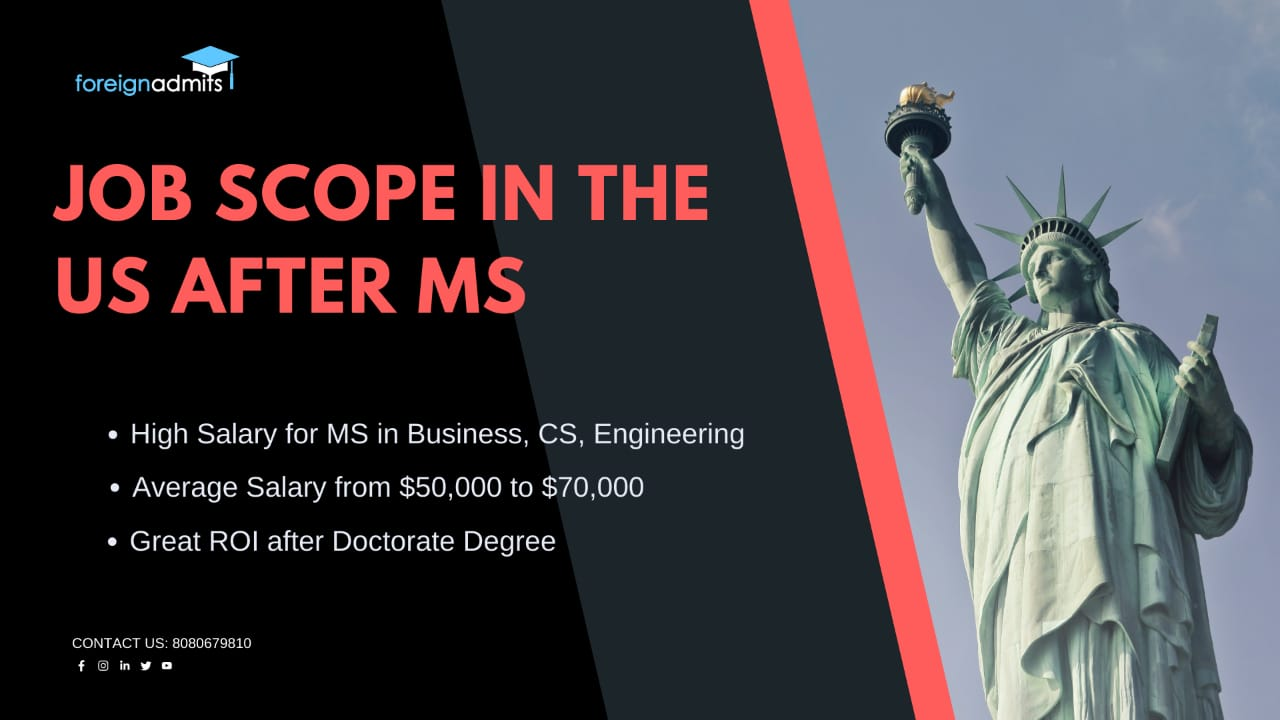 Job scope in the US after MS