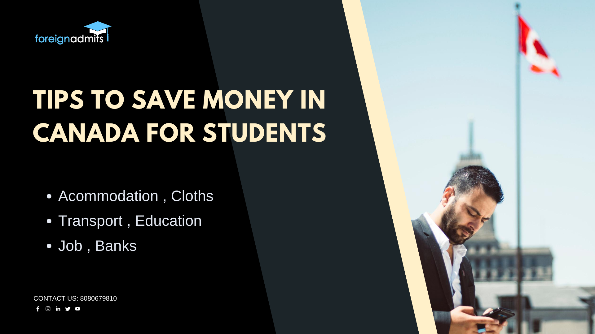 Tips to save money in canada for students