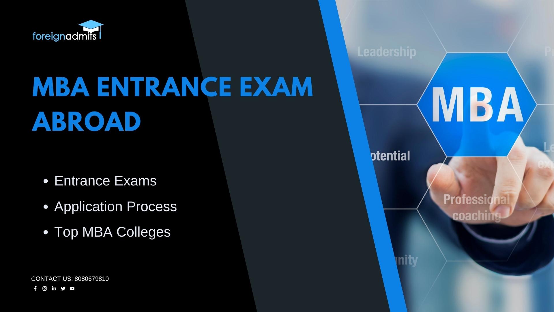 MBA Entrance Exam Abroad