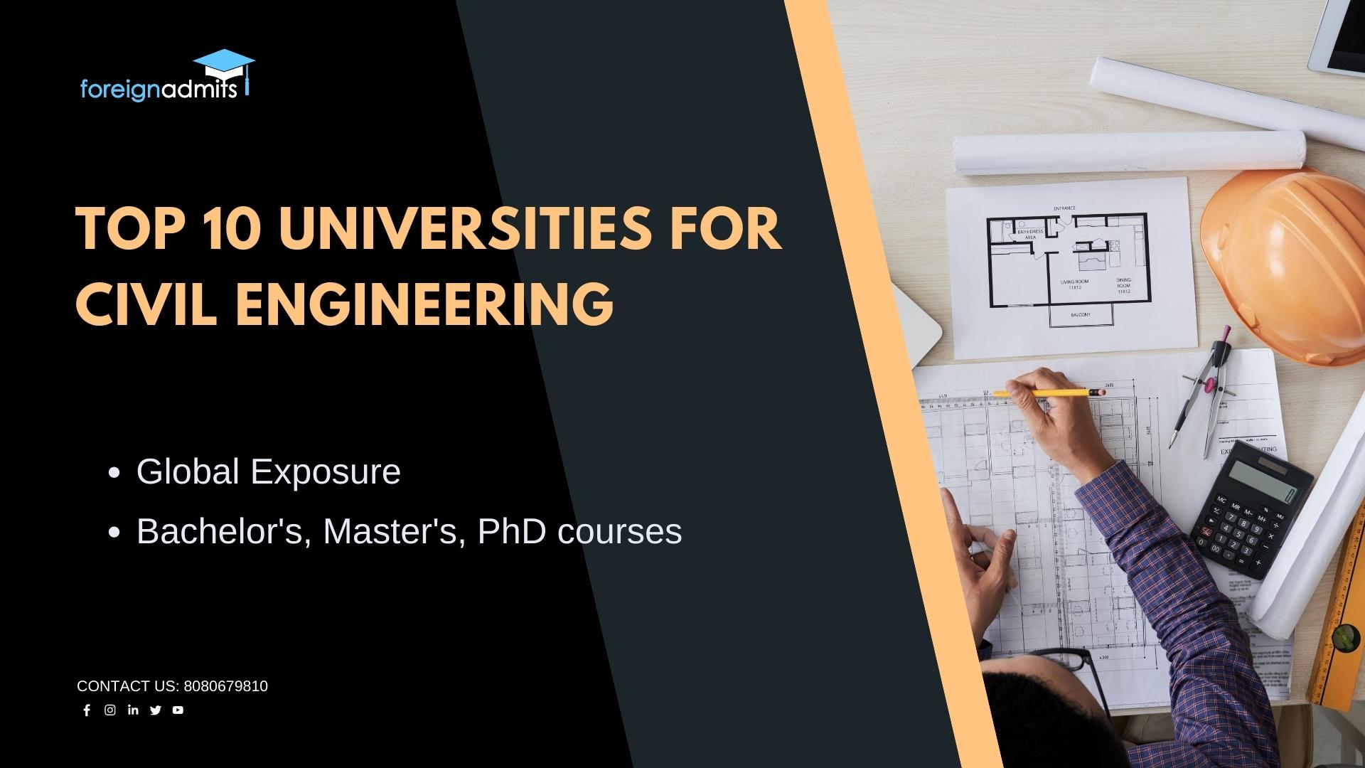 Top 10 Universities For Civil Engineering