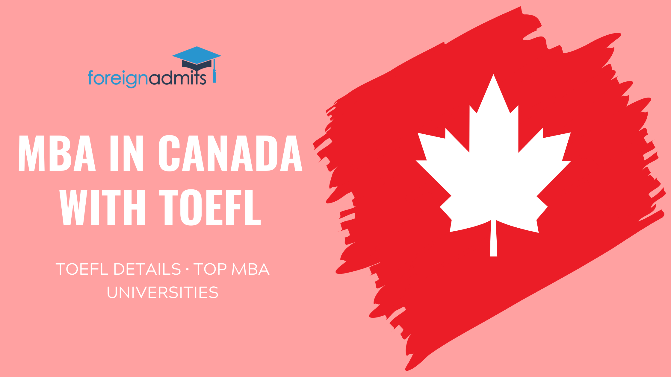 MBA in Canada with TOEFL