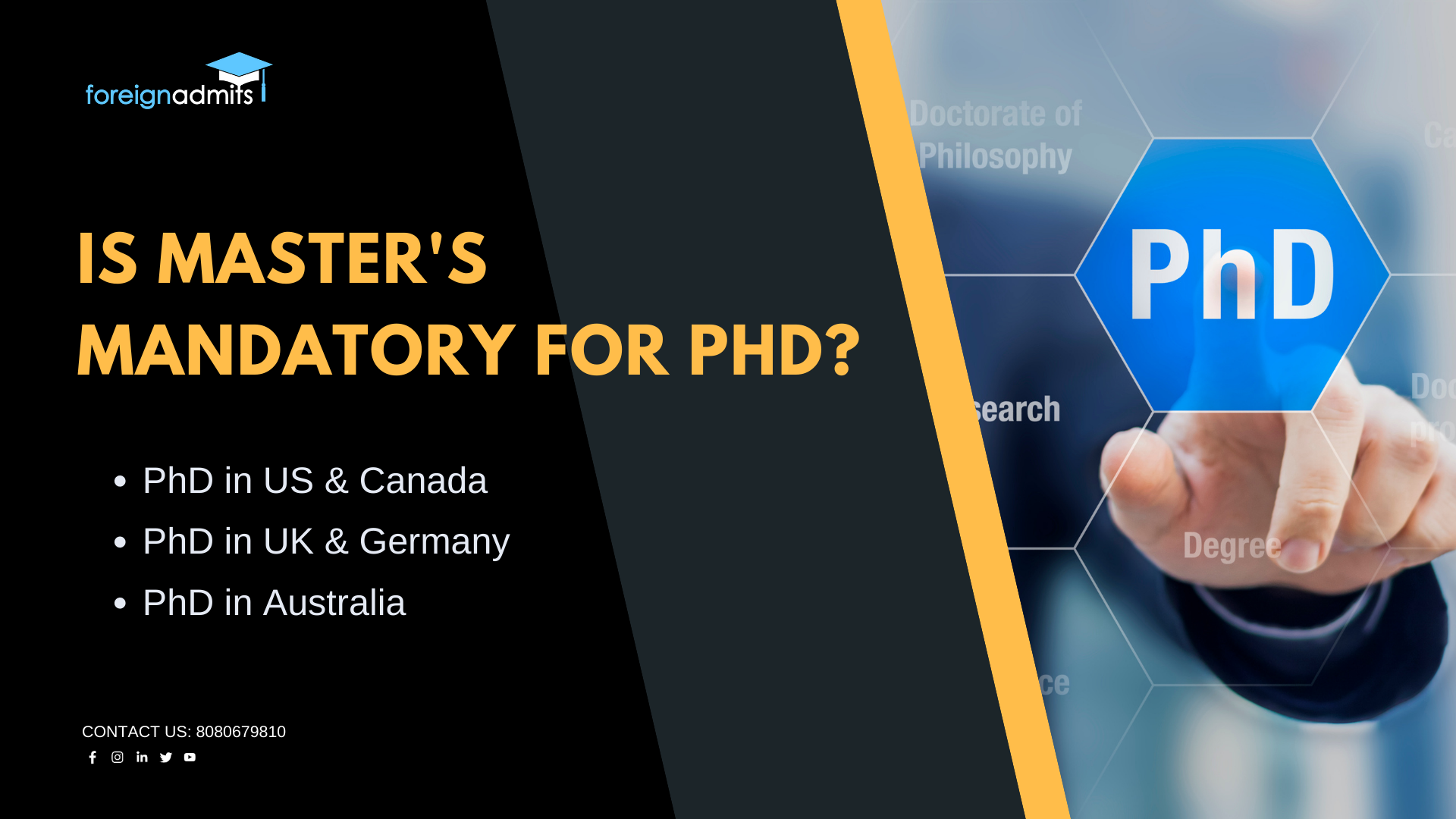 Is masters mandatory for phd