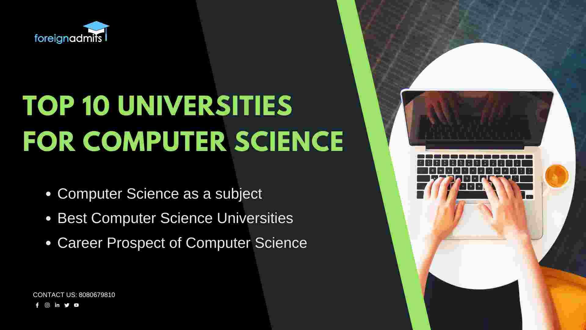 Top 10 universities for computer science