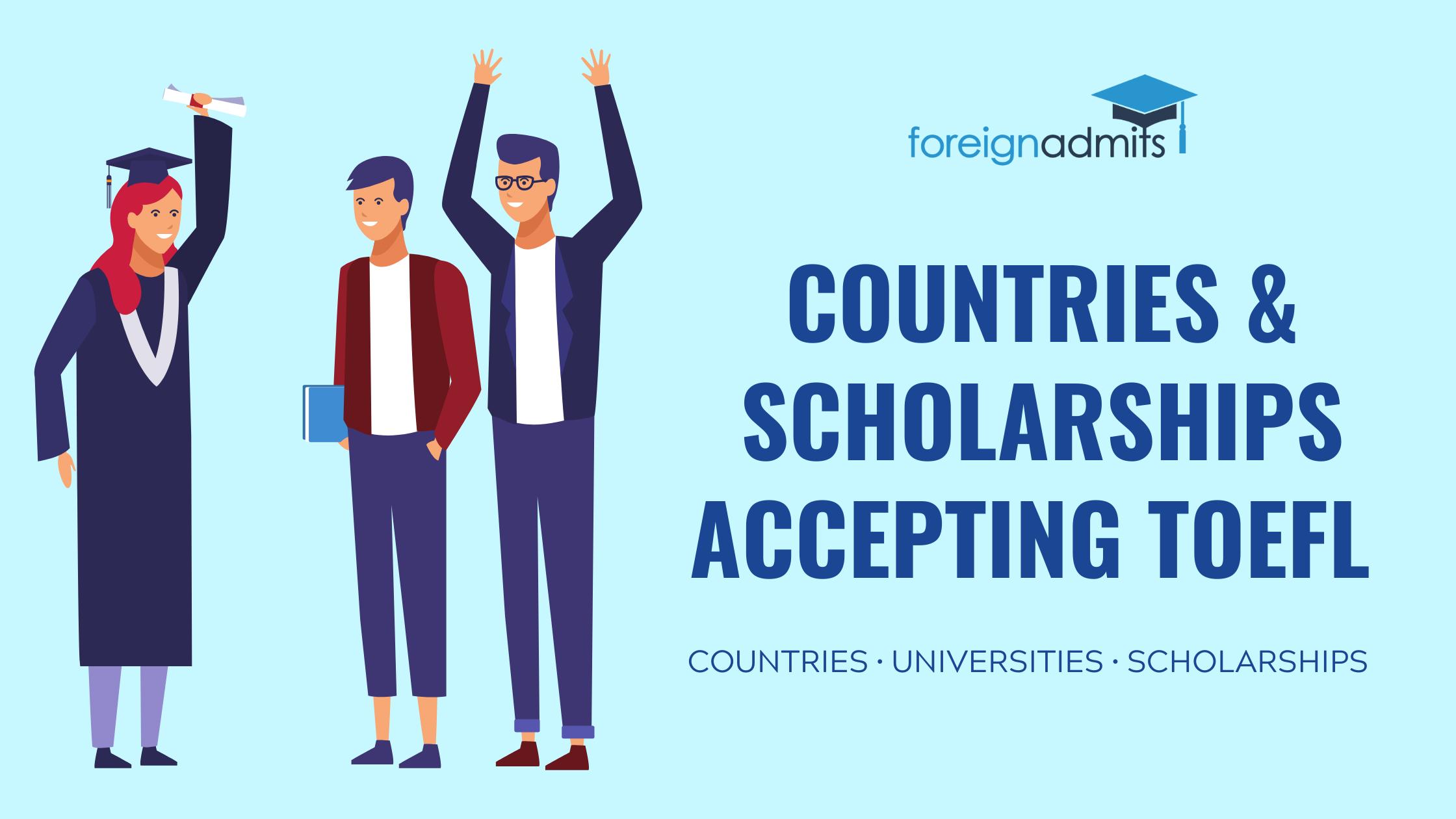 Countries accepting TOEFL score