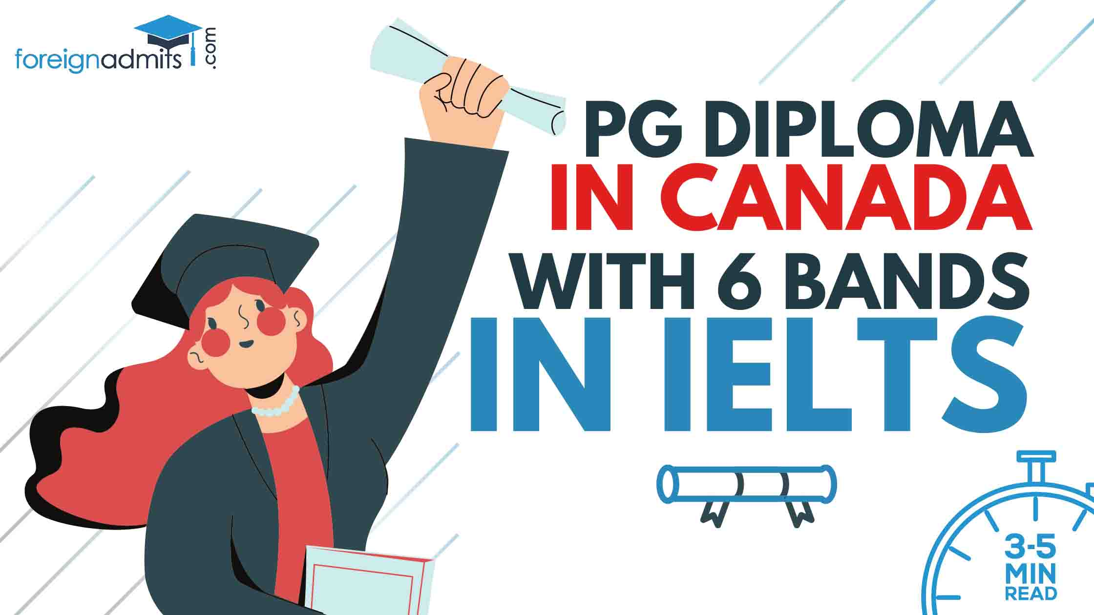 PG Diploma in Canada with 6 Bands in IELTS