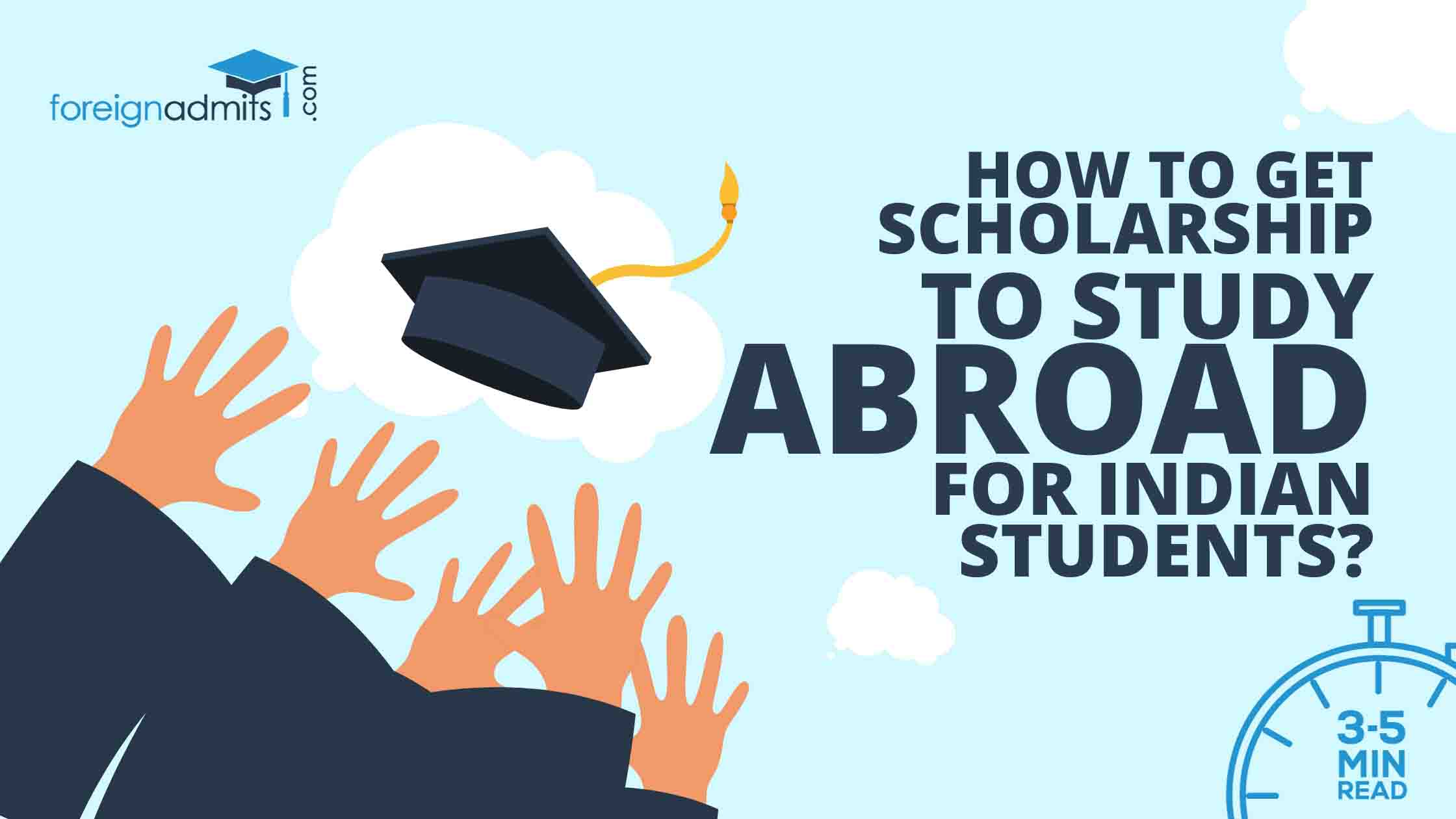 How to Get a Scholarship to Study Abroad for Indian Students?