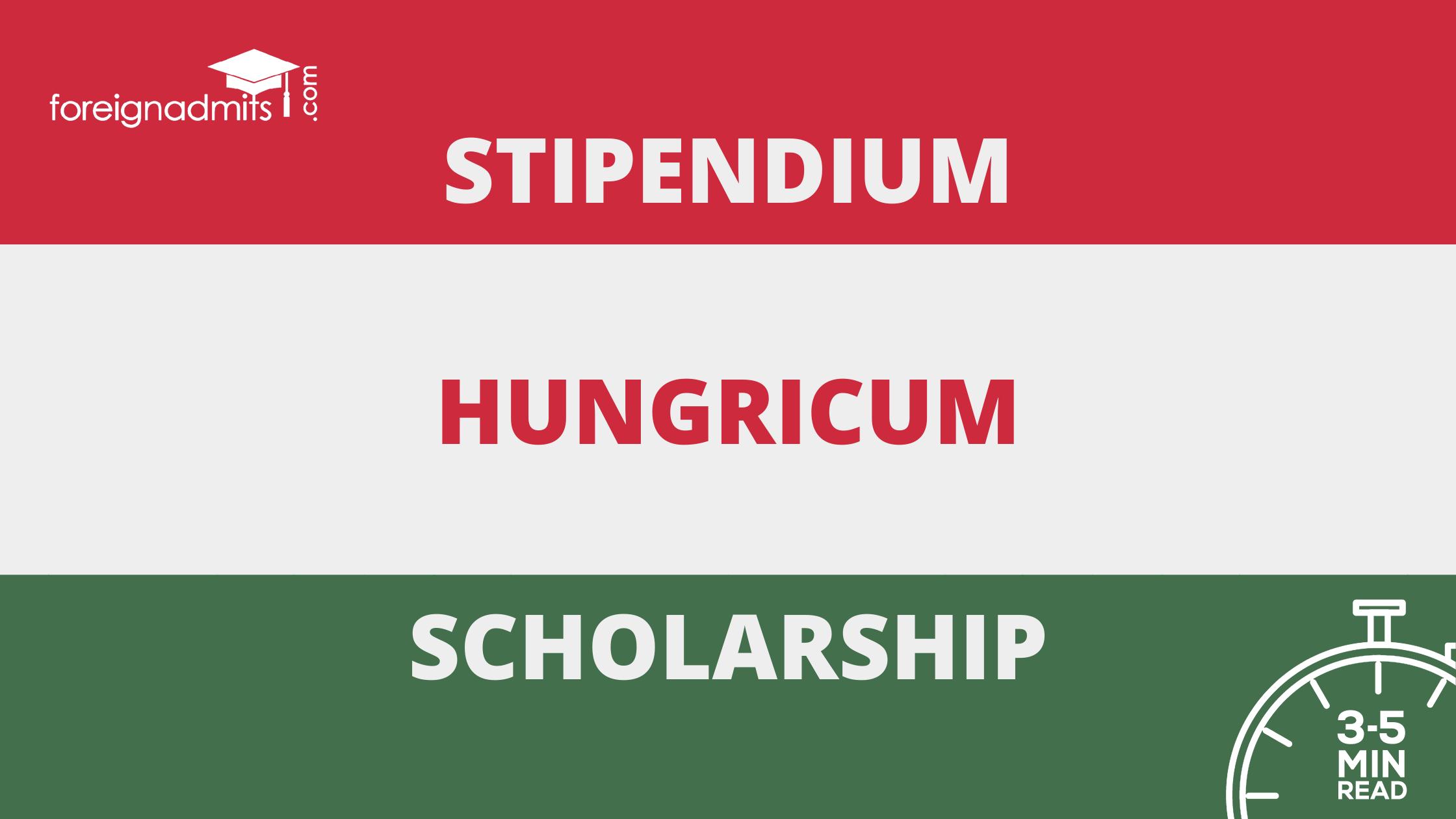 stipendium Hungricum Scholarship