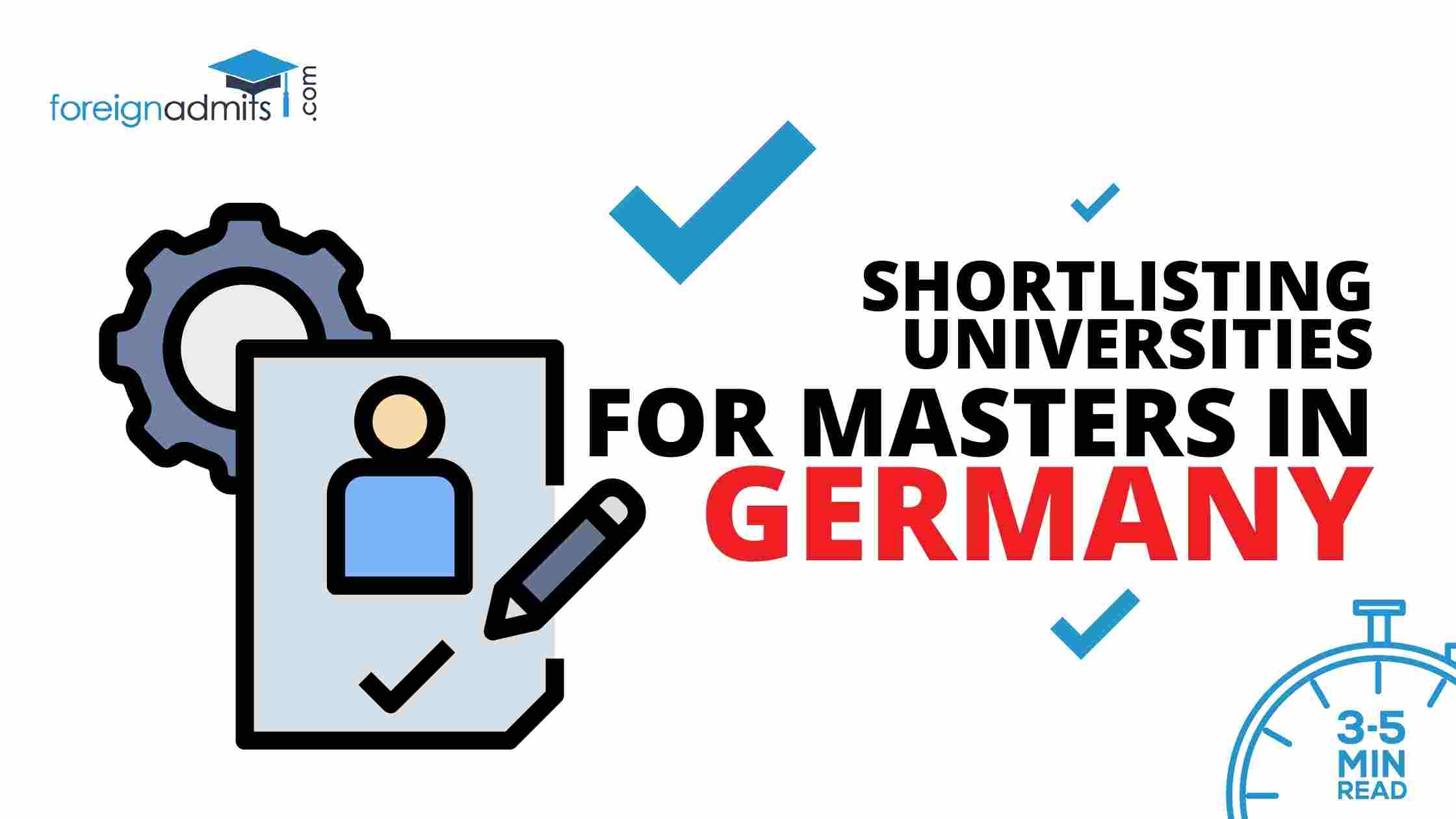 Shortlisting Universities for Masters in Germany