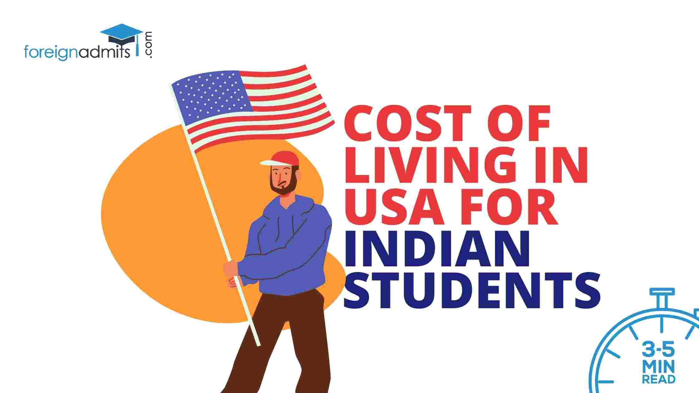 Cost Of Living In USA For Indian Students