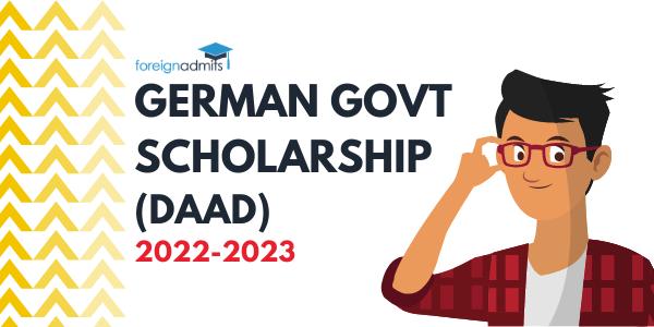 GERMAN GOVERMENT SCHOLARSHIP DAAD 2022 2023