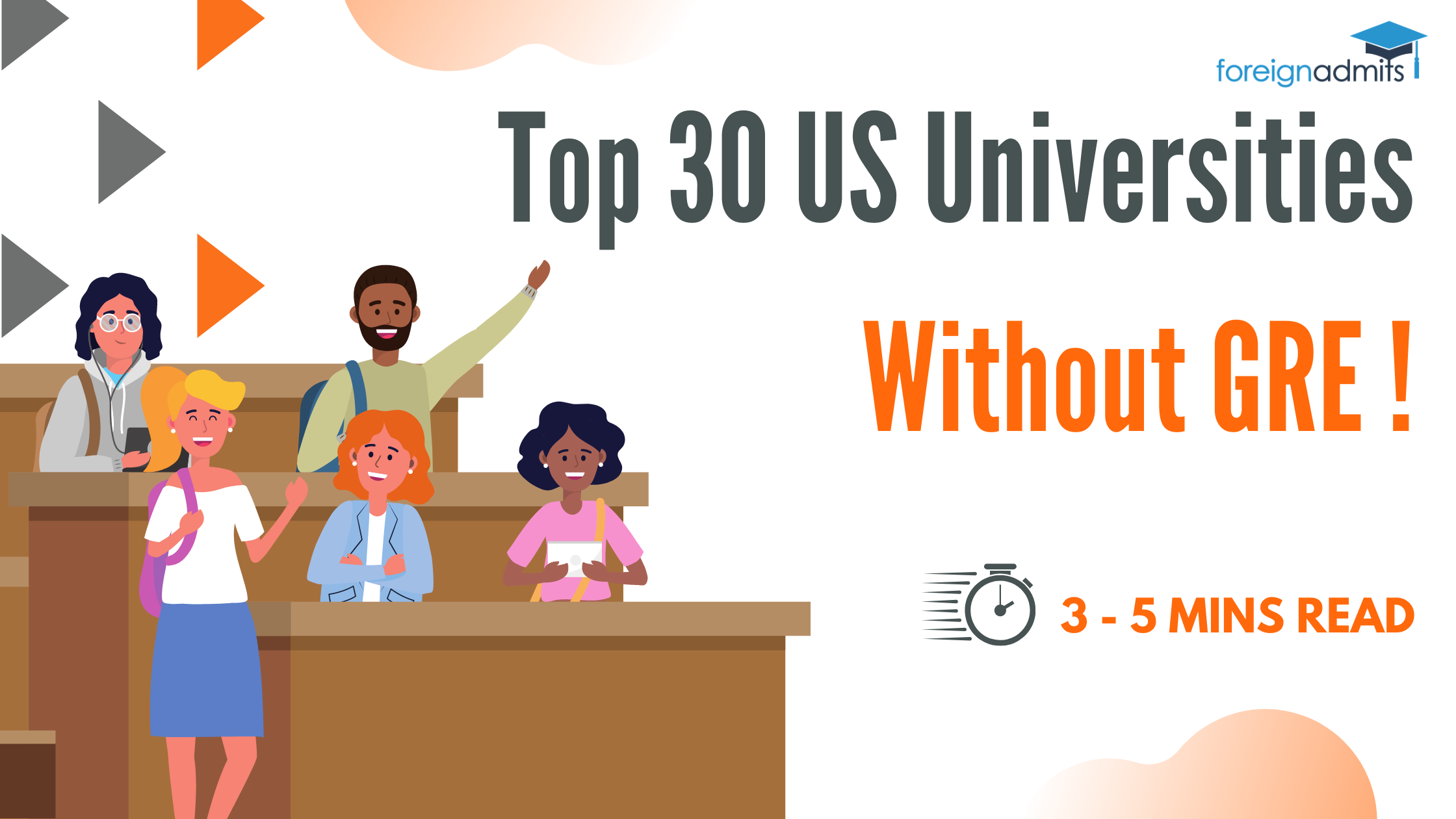 Top 30 US Universities Without GRE