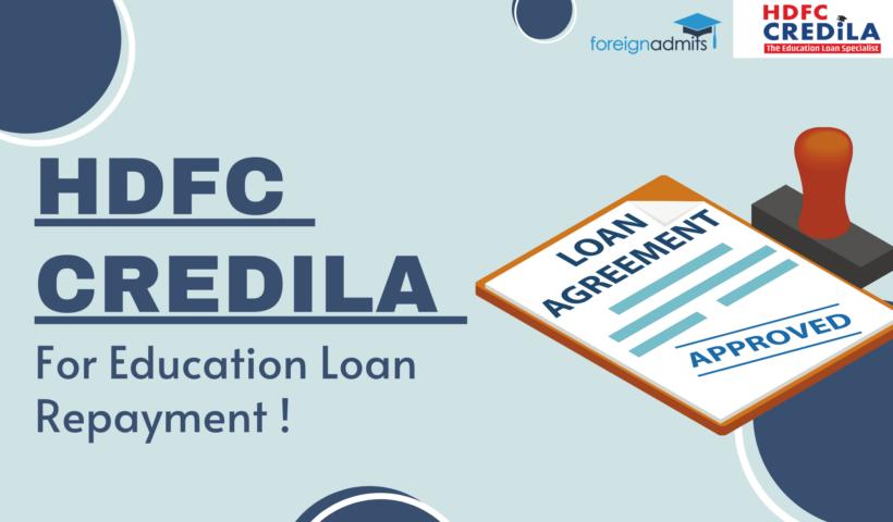 HDFC Credila For Education Loan Repayment
