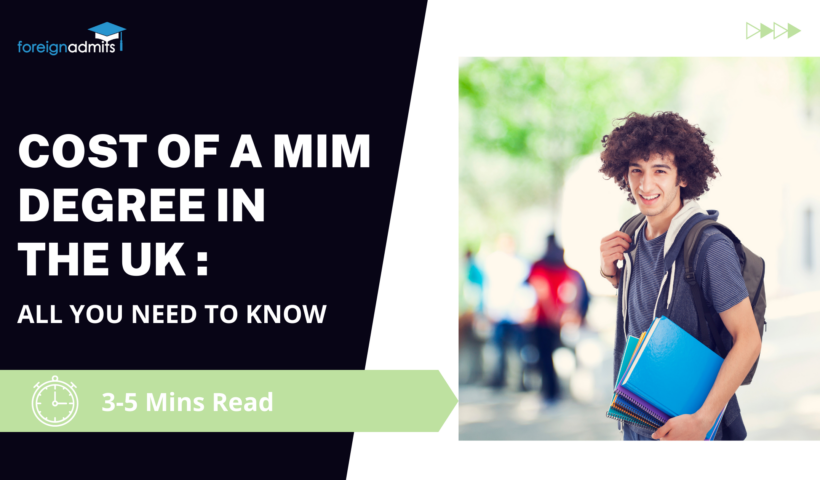 Cost of a MIM degree in the UK : All you need to know